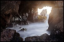 Looking through Pfeiffer Beach arch. Big Sur, California, USA (color)
