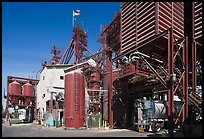 Grain elevator, Oakdale. California, USA (color)