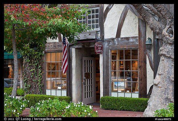Art galleries. Carmel-by-the-Sea, California, USA (color)
