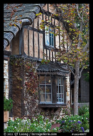 Half-timbered house. Carmel-by-the-Sea, California, USA (color)