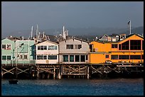 Fishermans wharf pier. Monterey, California, USA (color)