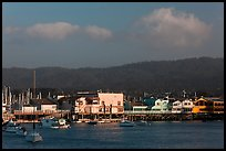 Fishermans wharf, Monterey harbor. Monterey, California, USA (color)
