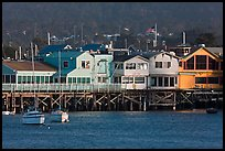 Fishermans wharf, late afternoon. Monterey, California, USA (color)