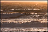 Storm surf at sunset. Carmel-by-the-Sea, California, USA
