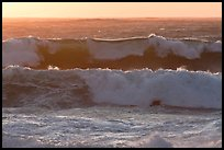 Big waves at sunset. Carmel-by-the-Sea, California, USA