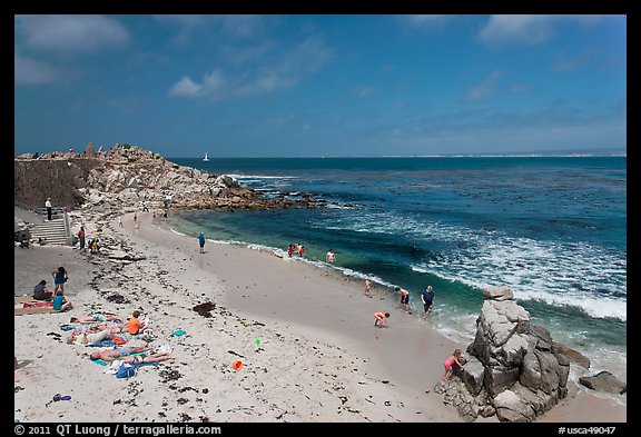 Beach at Lovers Point. Pacific Grove, California, USA (color)