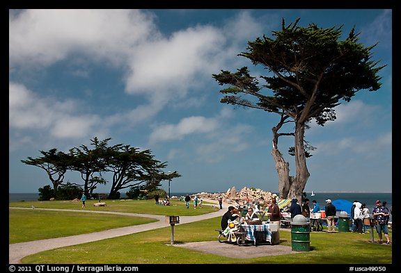 Lovers Point Park. Pacific Grove, California, USA (color)