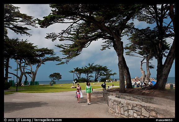 Lovers Point Park. Pacific Grove, California, USA