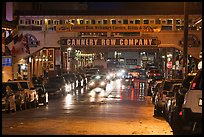 Cannery Row lights at night. Monterey, California, USA (color)