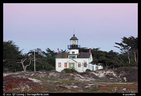 Point Pinos Lighthouse, oldest continuously-operating on the West Coast. Pacific Grove, California, USA