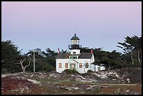 Point Pinos Lighthouse, oldest continuously-operating on the West Coast. Pacific Grove, California, USA ( color)