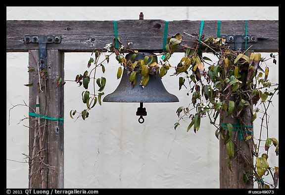 Historic bell. Monterey, California, USA