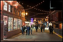 On the Fishermans Wharf at night. Monterey, California, USA