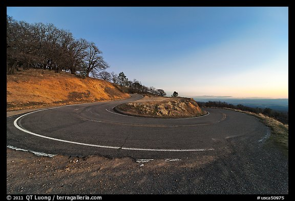 Hairpin curve, Mt Hamilton road. San Jose, California, USA