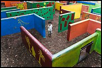Labyrinth, Happy Hollow Park. San Jose, California, USA ( color)