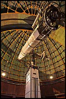 Lick Refractor (third-largest refracting telescope in the world). San Jose, California, USA (color)