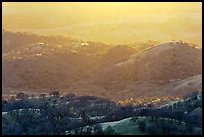 Hills and ridges at sunset. San Jose, California, USA ( color)