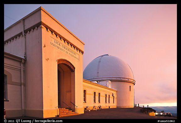 University of California Lick Observatory at sunset. San Jose, California, USA (color)