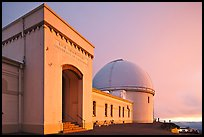 University of California Lick Observatory at sunset. San Jose, California, USA ( color)
