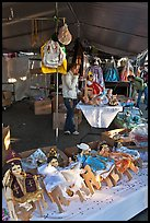 Mexican dolls, San Jose Flee Market. San Jose, California, USA (color)