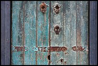 Weathered door detail. Santana Row, San Jose, California, USA (color)