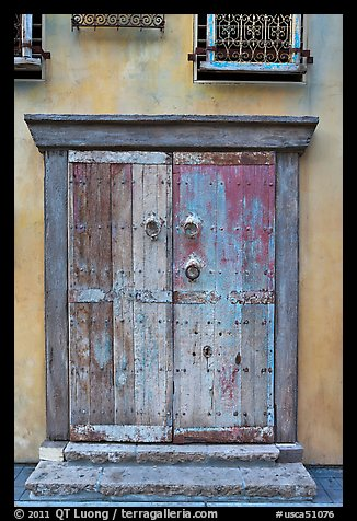 Weathered door. Santana Row, San Jose, California, USA