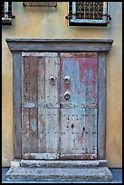 Weathered door. Santana Row, San Jose, California, USA ( color)