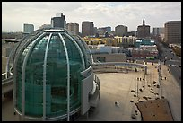 Rotunda and esplanade from City Hall offices. San Jose, California, USA (color)