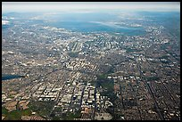 Aerial View of San Jose and South Bay. San Jose, California, USA ( color)