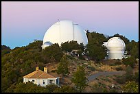 Lick observatory domes. San Jose, California, USA ( color)