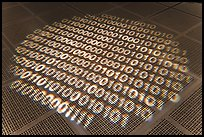Pattern of ones and zeros, Intel Museum. Santa Clara,  California, USA (color)