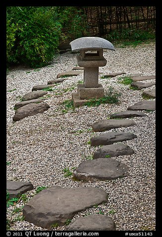 Zen garden, Hakone Estate. Saragota,  California, USA