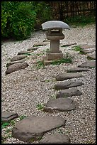 Zen garden, Hakone Estate. Saragota,  California, USA (color)