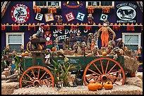 Decorations in pumpkin farm. Half Moon Bay, California, USA (color)