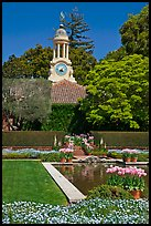 Sunken garden and garden shop, Filoli estate. Woodside,  California, USA (color)