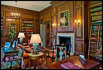 Room with antique furnishings, Filoli estate. Woodside,  California, USA (color)