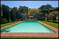 Swimming pool, Filoli estate. Woodside,  California, USA (color)