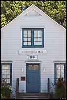 Independence Hall 1884. Woodside,  California, USA ( color)