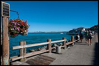 Waterfront promenade, Sausalito. California, USA (color)