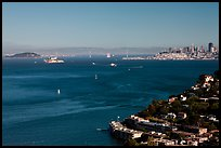 Bay seen from heights, Sausalito. California, USA ( color)