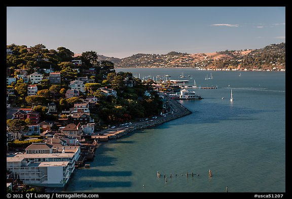 View from above, Sausalito. California, USA (color)