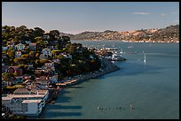 View from above, Sausalito. California, USA ( color)