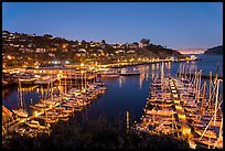 Belvedere Harbor at night. California, USA ( color)