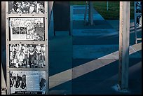World War II pictures on Rosie the Riveter Memorial. Richmond, California, USA ( color)