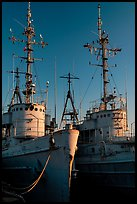 Retired warships, Rosie the Riveter/World War II Home Front National Historical Park. Richmond, California, USA (color)