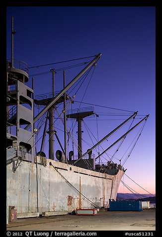 SS Red Oak Victory ship, Shipyard No 3, World War II Home Front National Historical Park. Richmond, California, USA (color)