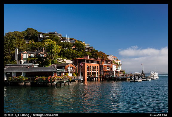 Belvedere Cove, Tiburon. California, USA (color)