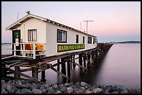 Marin Rod and Gun Club pier. San Pablo Bay, California, USA (color)