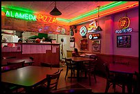 Pizza restaurant. Alameda, California, USA (color)