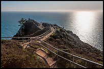 Overlook over Pacific Ocean, late afternoon. California, USA (color)
